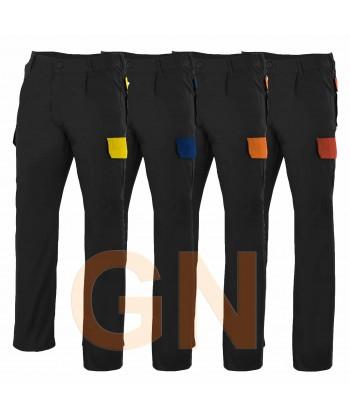 Pantalón combinado con las tapetas a contraste