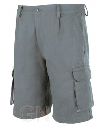 Pantalón bermuda combinado gris