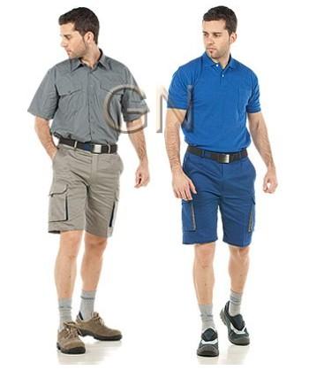 Pantalón bermuda combinado