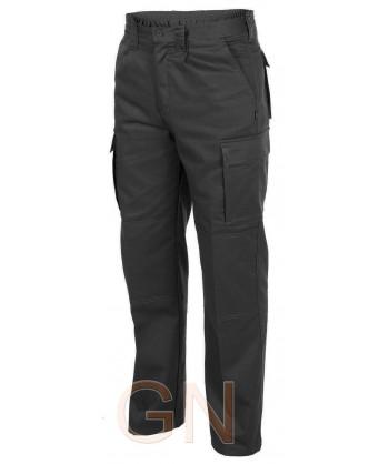Pantalones multibolsillos con refuerzos. Muy fuertes negro