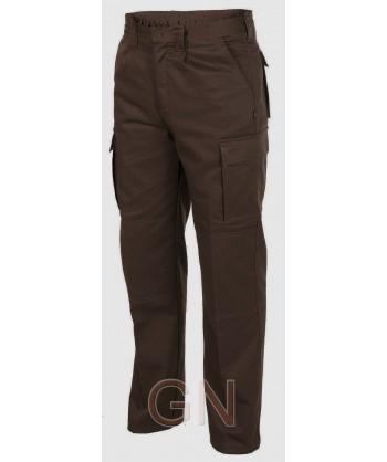 Pantalones multibolsillos con refuerzos. Muy fuertes marrones