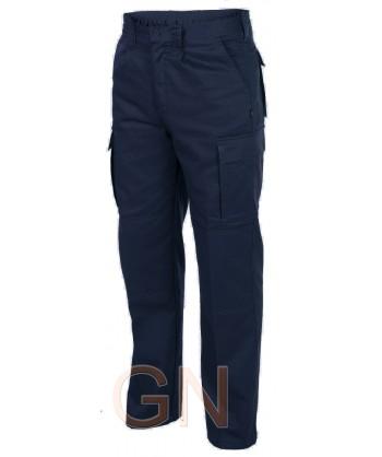 Pantalones multibolsillos con refuerzos. Muy fuertes marino