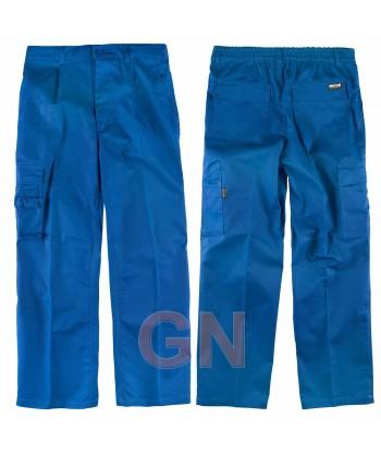 Pantalón multibolsillos triple costura muy fuertes azulina