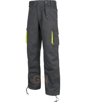 Pantalones multibolsillos con rodilleras gris