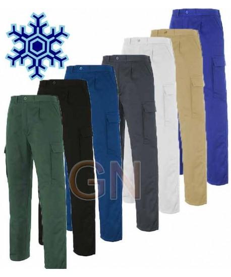 Pantalones acolchados multibolsillos