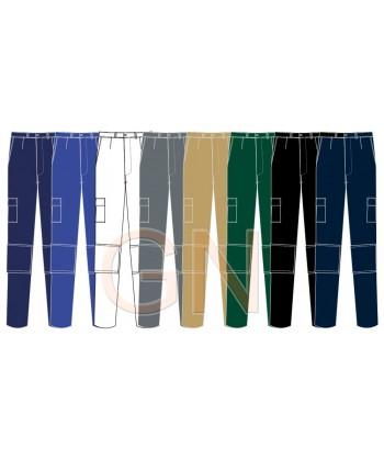 Pantalones de algodón multibolsillos con refuerzos