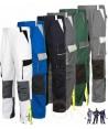 Pantalones multibolsillos bicolores con refuerzos