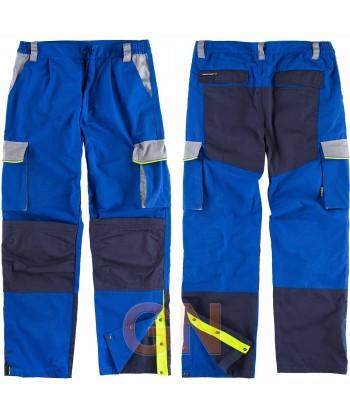 Pantalón bicolor con refuerzos en rodillas y culera azulina/marino