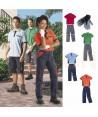 Conjunto para el verano de pantalón, polo y guantes