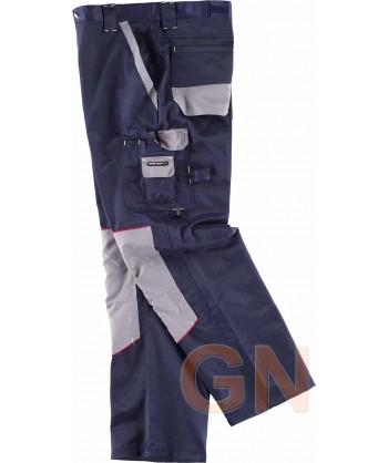 Pantalones multibolsillos triple costura tejido antimanchas marino gris