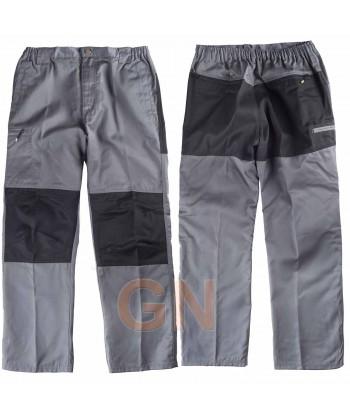 Pantalón multibolsillos combinado gris/negro