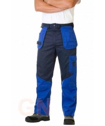 Pantalón multibolsillos con gran resistencia marino/azulina
