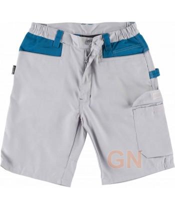 Pantalón bermuda con refuerzo en culera gris claro/azafata