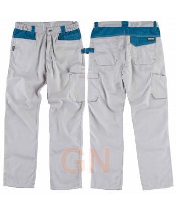Pantalón con triples costuras y refuerzo en culera gris/azafata