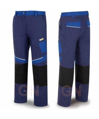 Pantalón multibolsillos con refuerzos de cordura azul marino/azulina