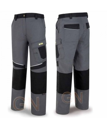 Pantalón multibolsillos con refuerzos de cordura gris/negro