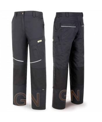 Pantalón multibolsillos con refuerzos de cordura negro