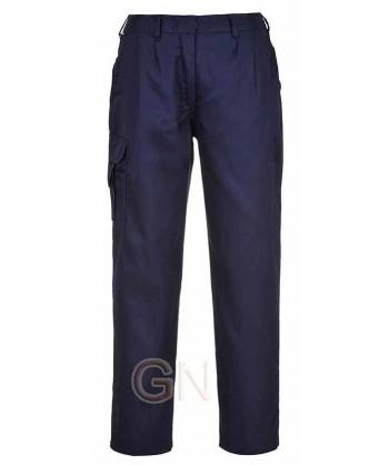 Pantalón multibolsillos de mujer azul marino