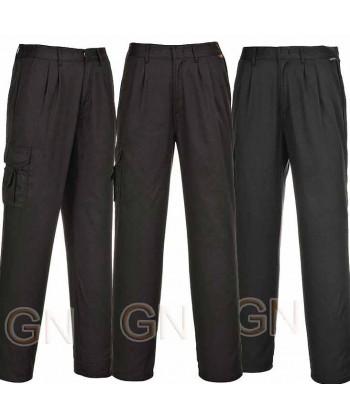 Pantalón multibolsillos de mujer negro