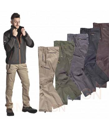 Pantalón deportivo de viscosa con refuerzos