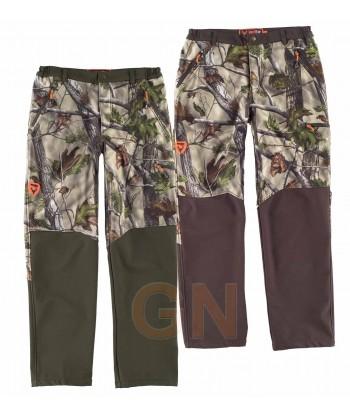 Pantalón sport combinado con tejido softshell transpirable y elástico
