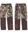 Pantalón sport combinado con tejido softshell transpirable y elástico camuflaje / marrón