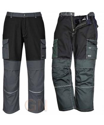 Pantalón bicolor multibolsillos con refuerzos