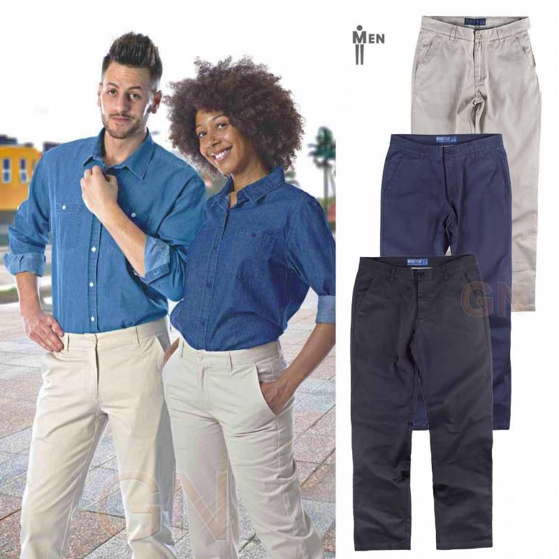 Pantalón tipo chino tejido elástico para hombre