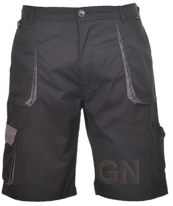 Pantalón bermuda multibolsillos negro/negro