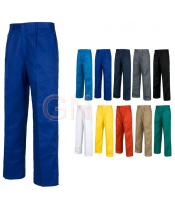 Pantalones rectos color azulina