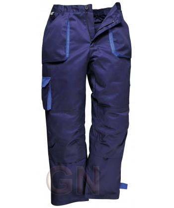 Pantalón multibolsillos con forro marino/azulina