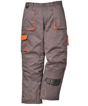 Pantalón multibolsillos con forro gris/naranja