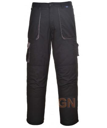 Pantalón multibolsillos con forro negro/negro