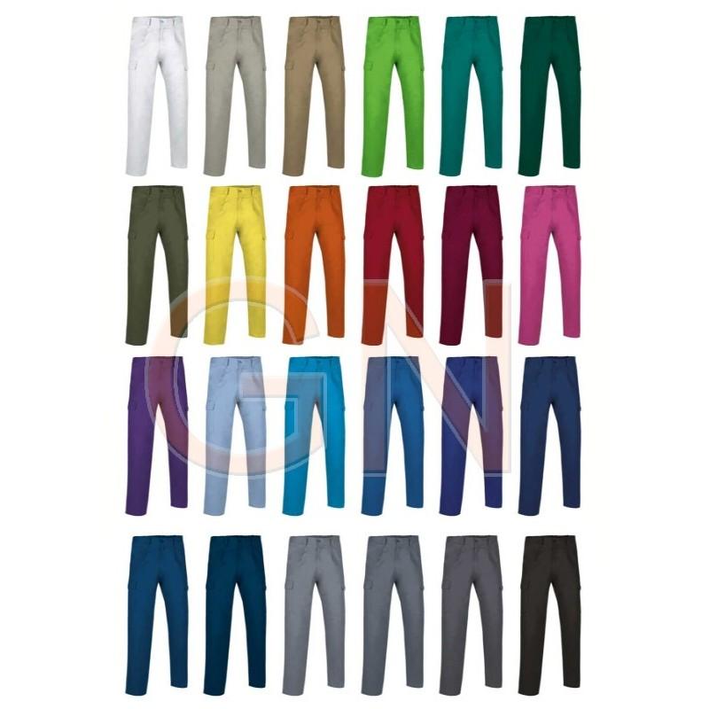 Pantalones multibolsillos económico