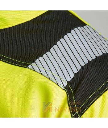 Cazadora alta visibilidad bicolor Portwest T500 color amarilla con cintas segmentadas