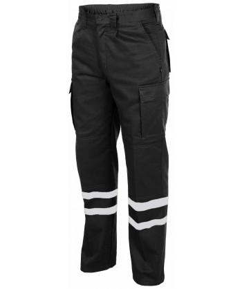 Pantalones tacticos multibolsillos con cintas reflectantes marino