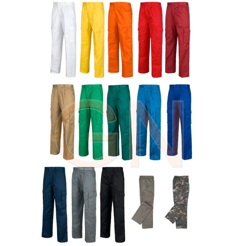 pantalón multibolsillos loneta
