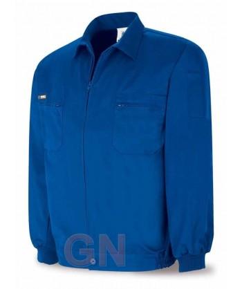 Cazadora de algodón azulina