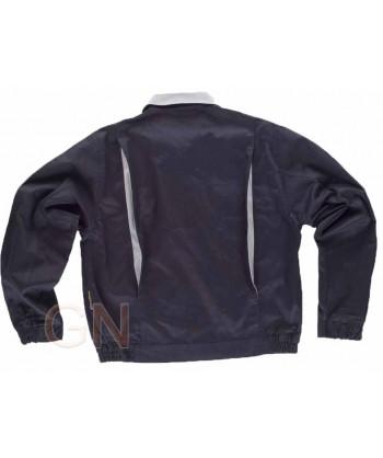 Cazadora gruesa de algodón bicolor marino/gris