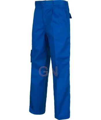 Pantalón multibolsillos muy fuertes azulina