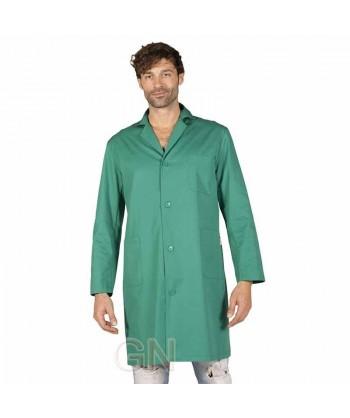 Bata de caballero de manga larga color verde