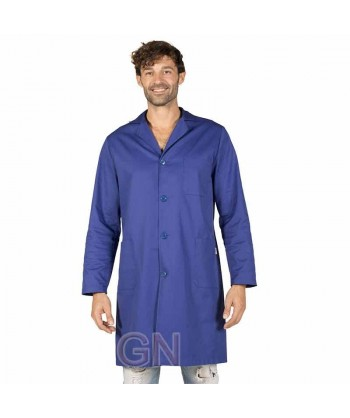 Bata de caballero de manga larga color azulina