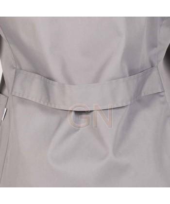 Bata de caballero de manga larga color gris