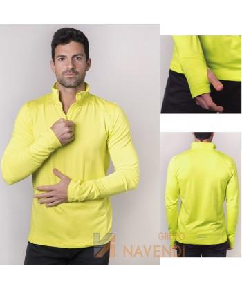 Camiseta térmica transpirable de manga larga para deporte
