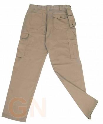 Pantalones multibolsillos con refuerzos beige