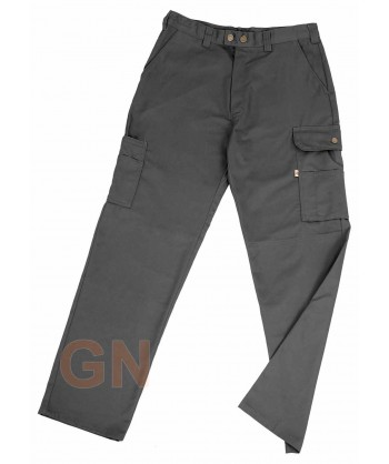 Pantalones multibolsillos con refuerzos gris
