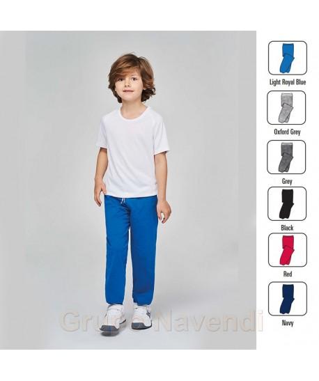 Pantalon De Felpa Con Cintura Elastica Cordon Y Bolsillos Para Ninos