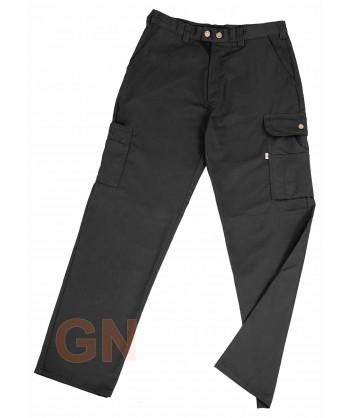 Pantalones multibolsillos con refuerzos negros