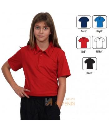 Polo económico transpirable de manga corta para niños