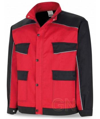 Cazadora bicolor de moderno diseño roja/negro